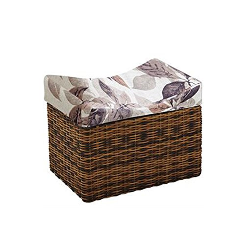 HOMEE Brisk-- rattan creative for shoe stool sofa stool storage stool wearing a shoe stool storage stool fashion simple small stool bed stool (multiple styles available),#3-503840cm by HOMEE