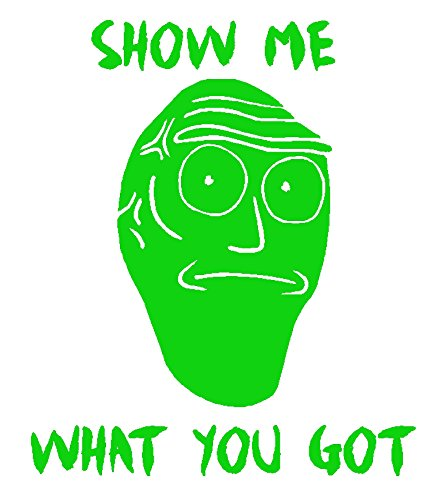 Giant Floating Head Decal, Show Me What You Got Sticker, Please Message Us For Custom Decals (H 8.5 by L 7.5 Inches, (Greens Floating Sticks)