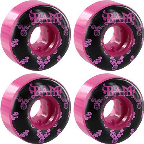 (Element Skateboards Bam Heartagram Pink Skateboard Wheels - 52mm 99a (Set of 4))