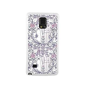 CaseCityLiu - The Bride and Groom4 Dense Design/Girl Case White Bumper Plastic+TPU Case Cover for Samsung Galaxy Note4