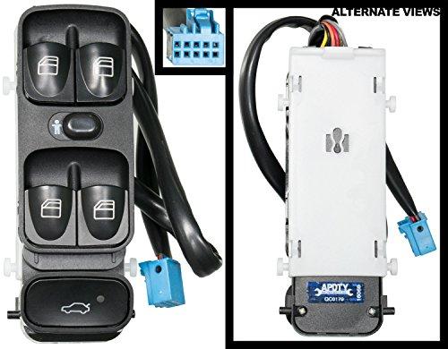 APDTY 2038210679 Power Window & Trunk Switch Fits 4-Door 2003-2007 Mercedes C230 2001-2005 C240 or C320 2006-2007 C280 or C350 2002-2004 C32 AMG 2005-2006 C55 AMG (Replaces (C230 Trunk)