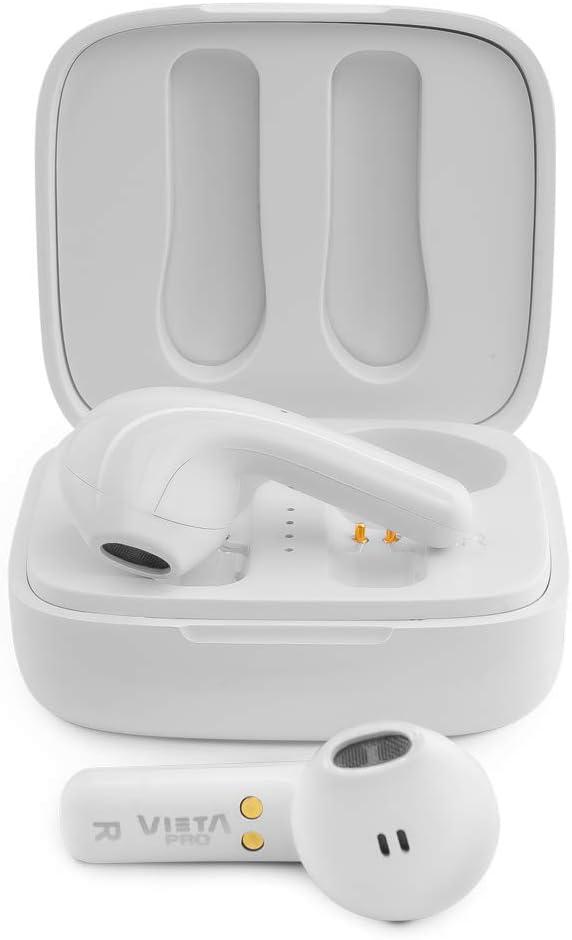 Vieta Pro It - Auriculares inalámbricos (Bluetooth 5.0, True Wireless, micrófono, Touch Control y Voice Assistant) Color Blanco