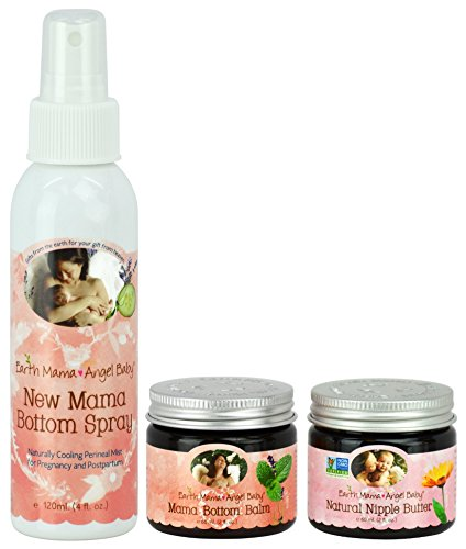 Earth Mama Angel Baby Bottom Spray with Bottom Balm & Nipple