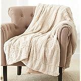 Pinzon Faux Fur Throw Blanket - 63 x 87 Inch, Ivory