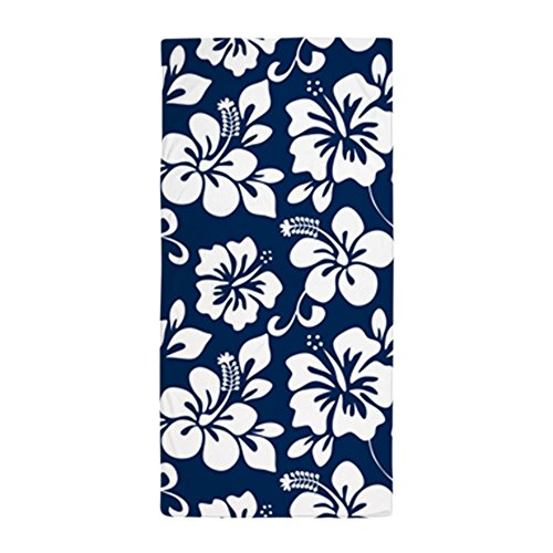 "CafePress Navy Blue Hawaiian Hibiscus Large Beach Towel, Soft 30""x60"" Towel with Unique Design"