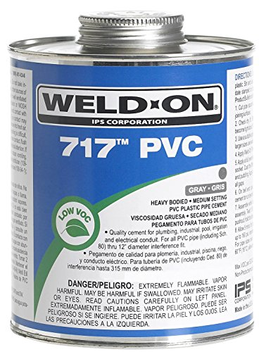 Weldon 1681-4113 10148 1 Pint 717 PVC Cement, Gray ()