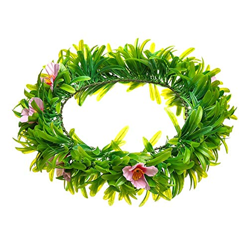Flowers Wreath Crown Tiara Wedding Garland Hairbands Simulation