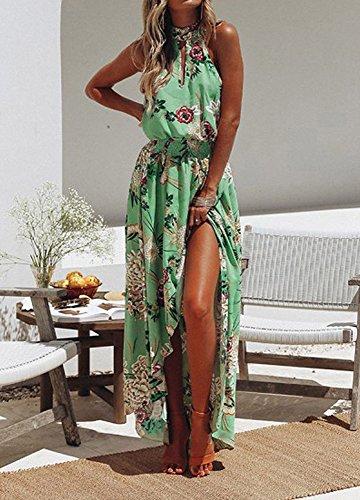 Chemise Plage Floral Longue Maxi Vert t de Party Tunique Dress LEvifun Robe Imprim Robe Robe Vintage Robe Robe Licou Sexy Sundress Chic Prom Soire Cocktail Boho de Femme TEwnSWqfW
