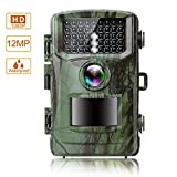MOPHOTO Trail Game Camera 14MP 1080P Hunting Camera with Night Vision Motion Activated Wildlife Game Cam 120° Detection with 0.5s Trigger Speed 2.4″ LCD 42 IR LEDs IP56 Waterproof
