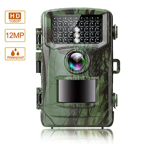 MOPHOTO Trail Game Camera 14MP 1080P Hunting Camera with Night Vision Motion Activated Wildlife Game Cam 120° Detection with 0.5s Trigger Speed 2.4