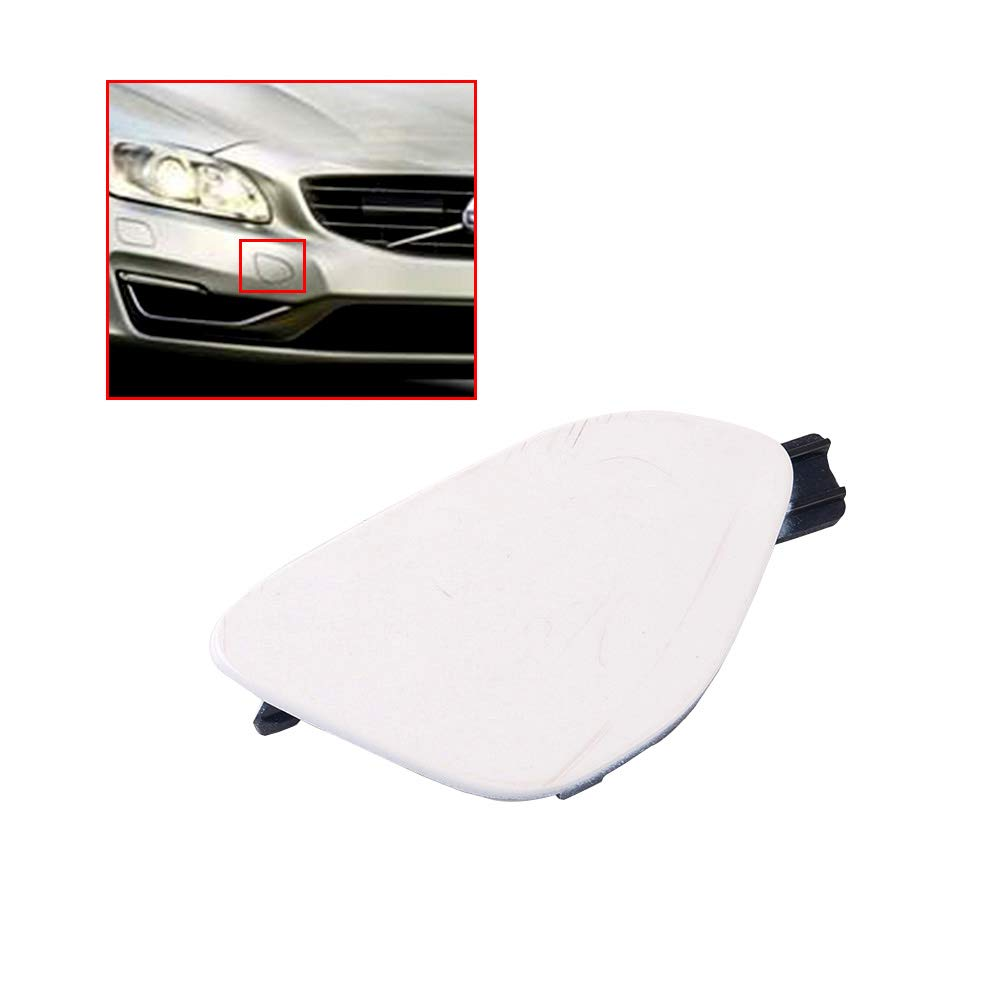 UPSM Front Bumper Towing Tow Eye Hook Cover Lid Cap Primed Unpainted Fit for Volvo S60 2014 2015 2016 39820294 31323839