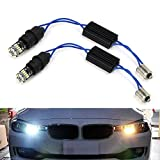 iJDMTOY 6000K Xenon White CAN-bus Error Free 15-SMD-1210 LED Lights Compatible With non-Xeonn trim BMW F30 3 Series 328i 335i Position Parking Lights