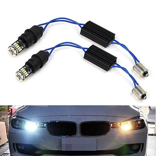 - iJDMTOY 6000K Xenon White CAN-bus Error Free 15-SMD-1210 LED Lights For non-Xeonn trim BMW F30 3 Series 328i 335i Position Parking Lights