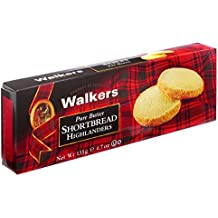 Walkers Shortbread Highlanders, 4.7 oz. Box, Traditional and Simple Pure Butter Shortbread Cookies from the Scottish Highlands, Made with Quality Ingredients, Free from Artificial Flavors