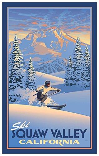 Ski Squaw Valley California Travel Art Print Poster by Paul Leighton (12