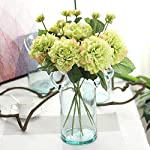 Furnily-5-Stems-Artificial-Flowers-Blossom-Dahlias-Silk-Flowers-Bridal-Bouquet-for-Wedding-Party-Home-DecorationGreen