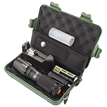 Kimloog Super Bright X800 Zoomable Flashlight XML T6 LED Tactical Police Adjustable Focus Torch+18650 Battery+Charger+Case