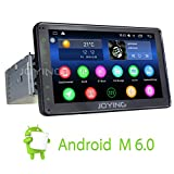 JOYING New Android 6.0 Aftermarket Head Unit 2GB RAM In Dash Stereo for Car Single Din Touch Screen Car Radio Media Player with GPS Navigation Bluetooth HD 1080P Resolution & Wifi, 7 Inch