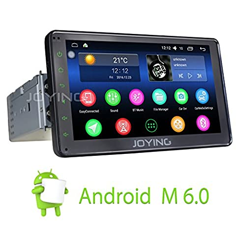 JOYING New Android 6.0 Aftermarket Head Unit 2GB RAM In Dash Stereo for Car Single Din Touch Screen Car Radio Media Player with GPS Navigation Bluetooth HD 1080P Resolution & Wifi, 7 - City Navigator Dvd