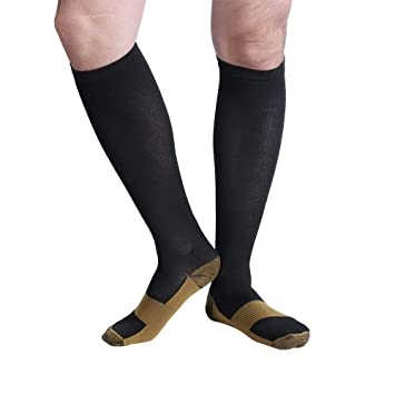 Unisex Miracle Copper Compression Socks Knee Anti-fatigue Leg Slimming Socks For Men And Woman Underwear & Sleepwears