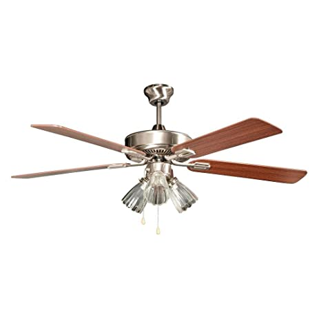 Radionic hi tech marcos 52 in stainless steel ceiling fan with stainless steel ceiling fan with light kit and 5 mozeypictures Images