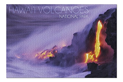 - Hawaii Volcanoes National Park - Lava Flow (20x30 Premium 1000 Piece Jigsaw Puzzle, Made in USA!)