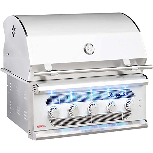 American Muscle Grill Grilling : Gas Grills AMG36-NG Built-in Dual-Fuel Wood/Charcoal / Gas Grill, 36-inch, Natural Gas