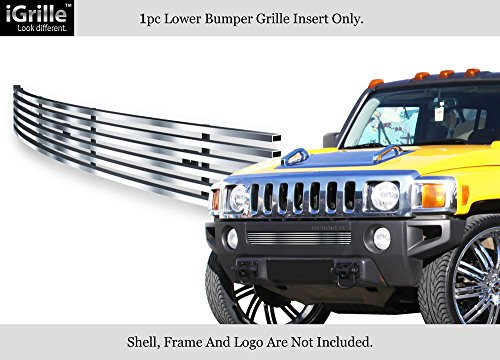 APS Compatible with 2006-2010 Hummer H3 Bumper Stainless Steel Vertical Billet Grille C65246C