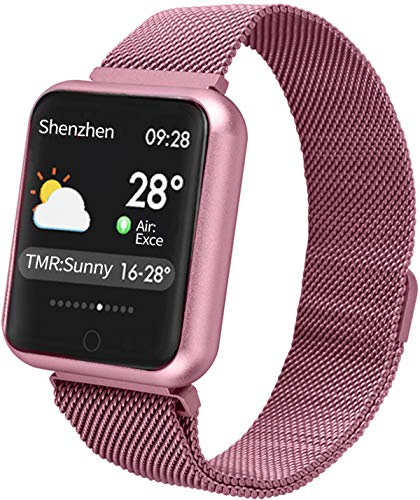 Smart Watch Color Touch Screen Pedometer Heart Rate Monitor Blood Pressure Activity Tracker Sleep Monitor Camera Bluetooth Sport Fitness Tracker IP68 Waterproof (Best Activity Wristband 2019)