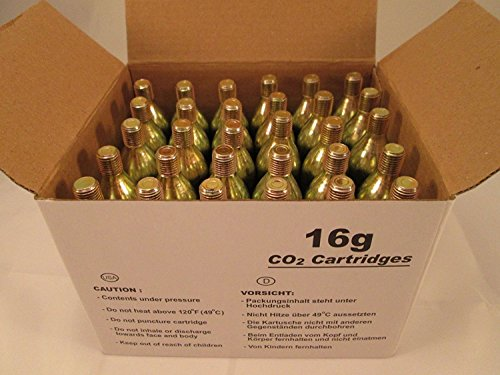 60 - 16g CO2 threaded cartridges - BIKE TIRE INFLATOR KEG charger