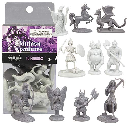 SCS Direct 10 pcs Fantasy Creatures Action Figure Playset, used for sale  Delivered anywhere in USA