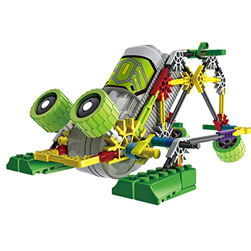 Alien Toys for Kids / Robotic Building Set / Battery Powered Robotic Kits / 3d Puzzles for Kids , 122 Parts (Frog) - Kid Science Frog