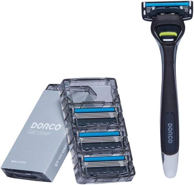 Maquinilla de afeitar Dorco Pace 4 Pro para hombres (8 cuchillas + ...