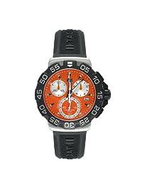 Tag Heuer Men's Formula 1 CAH1113.BT0714 Rubber Swiss Quartz Watch with Orange Dial