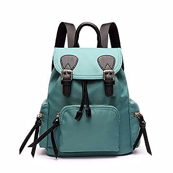 La nueva escuela lienzo bolsas mochila Mochila Solid paracaídas viento,Judías verdes: Amazon.es: Oficina y papelería