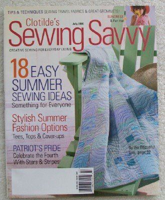 (Clotilde's Sewing Savvy Magazine. July 2006)