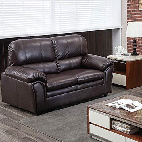 Loveseat Leather Faux Sofa (Sofa Sleeper Sofa Leather Loveseat Sofa Contemporary Sofa Couch for Living Room Furniture 2 Seat Modern Futon)