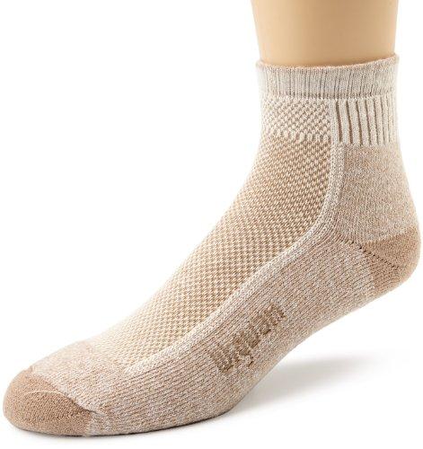 Wigwam Men's Cool-Lite Hiker Pro Quarter Socks, Khaki, Sock Size:10-13/Shoe Size: 6-12 ()