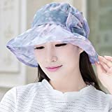 PLKOI Ms. Summer Sun Hats   The Tour Sunshade Breathable Bow Tie Folding Beach Hats Cooler Capd