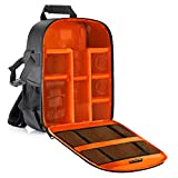 Neewer® Flexible Partition Camera Padded Backpack Bag Shockproof Insert Protection for SLR DSLR Mirrorless Cameras and Lenses, Flash Light, Radio Triggers,and Other Accessories (Orange Interior)