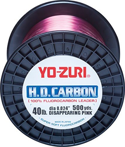 Yo-Zuri H.D.Carbon Fluorocarbon 100% Leader 500Yds 60Lbs 458M (0.747mm) Disappearing Pink