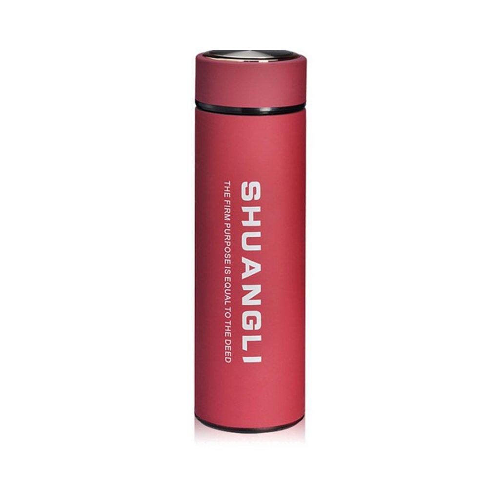 GRSB Botella,Termo Termo Botella 304 De Termos De 304 Acero Inoxidable para Taza De Viaje Taza De Té Termo Frascos De Vacío Termos Thermocup - Rojo 8beadc