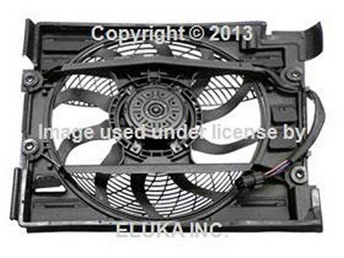 BMW OEM Auxiliary Fan Assembly with Shroud for A C Condenser E39 8380780 528i 540i 540iP M5