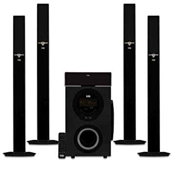 home theater tower speakers. acoustic audio aat3003 tower 5.1 home theater bluetooth speaker system with 8\u0026quot; powered subwoofer speakers 1