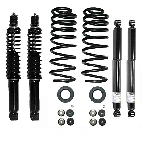 Elite 68001C Front and Rear Coil Spring Replacing Air Spring Conversion Kit Including Shocks ()
