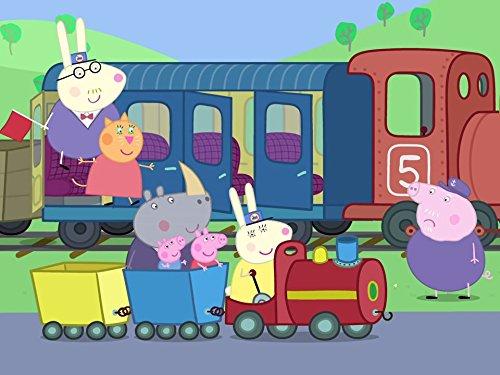 George's New Dinosaur/Grandpa Pig's Train to the Rescue