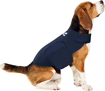 Eagloo Anxiety Coat for Dog Anxiety Jacket Lightweight Wrap Anxiety Coat Instant Therapy for Anxious Dogs Over Excitement Stress Relief Calming Shirt Warm and Soft Vest for Pets Navy Blue XL