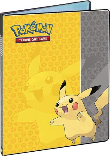 Ultra Pro UltraPro FBA_84554, Pokemon Card Binder Featuring Pikachu (9-Pocket Album/Portfolio Holds 90-180 Cards), Yellowith Grey 2' Zipper Binder Portfolio