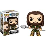 Funko - Justice League: Aquaman Figura Coleccionable de Vinilo, Multicolor, FUN-A-13486