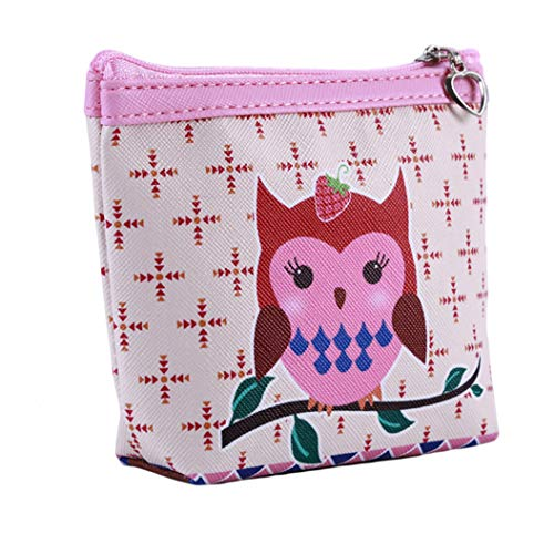 LZIYAN Cute Coin Purse Cartoon Owl Pattern Coin Purse Clutch Bag Portable Small Wallet With Zipper Storage Bag Creative Gift For Women,3# by LZIYAN (Image #2)